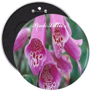 Pink Lillies button