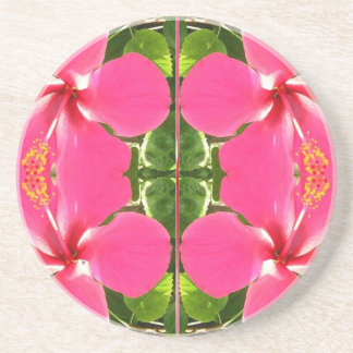Pink Lilly Lily Flowers FUN TEMPLATE Resellers Beverage Coaster
