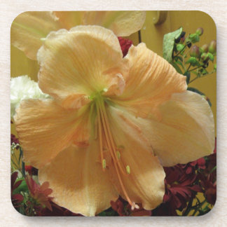 Pink Lily Bouquet Cork Coaster