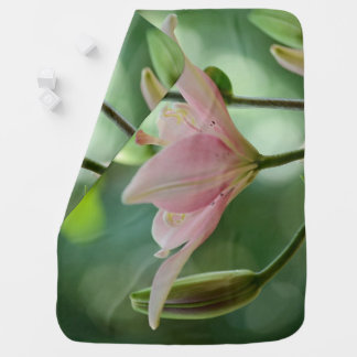 Pink Lily by Shirley Taylor Baby Blanket