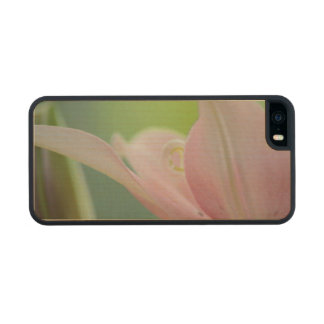 Pink Lily Carved® Maple iPhone 5 Case