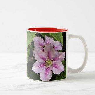 PInk Lily ( Clematis) Two-Tone Mug