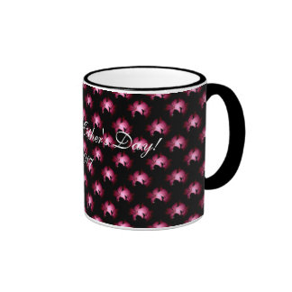 Pink Lily Cup Design, Happy Mother's Day! 2007 Ringer Mug
