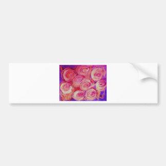 Pink Lily Floral Design Bumper Sticker