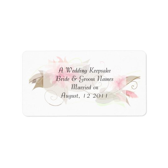 Pink Lily Floral Label