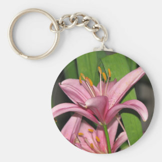 Pink Lily Key Ring
