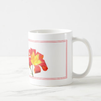 Pink Lily on White Coffee Mug