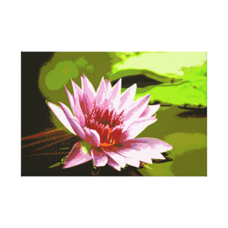 Pink Lily Photo on Canvas Stretched Canvas Prints