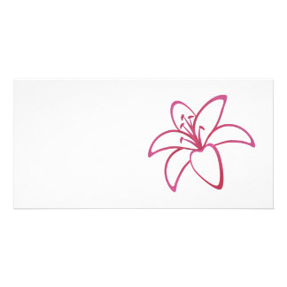 Pink Lily Photo Card Template