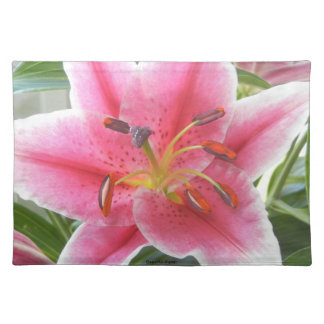 PINK LILY PLACEMAT