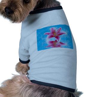 Pink Lily Sparkle Ringer Dog Shirt