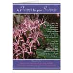 Pink Lily Success Greeting Card