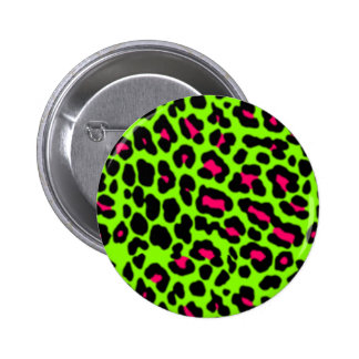 Pink & Lime Leopard Pin