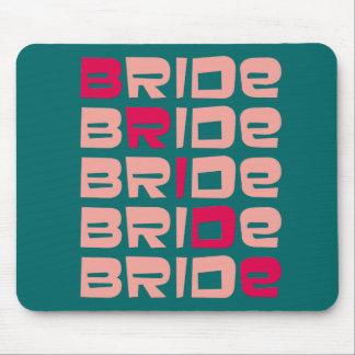 Pink Line Bride Favours Mouse Pad