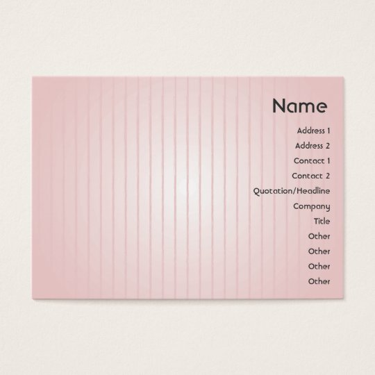 Pink Lines - Chubby Business Card