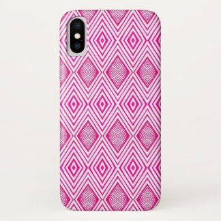 Pink Lines iPhone X Case