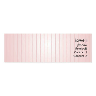 Pink Lines - Skinny Business Card