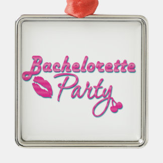 pink lips bachelorette party gifts bridal shower Silver-Colored square decoration