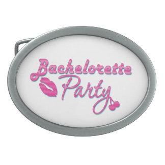 pink lips cherries bachelorette party bridal belt buckle