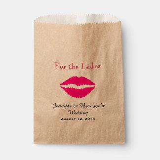 Pink Lips Custom Wedding Favor Bag