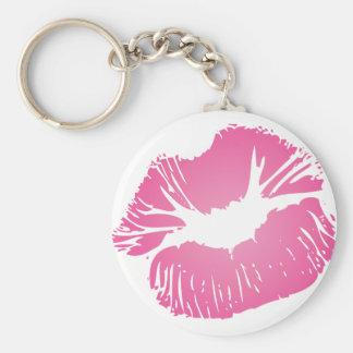 Pink LIps Key Ring