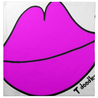 Pink Lips Napkin