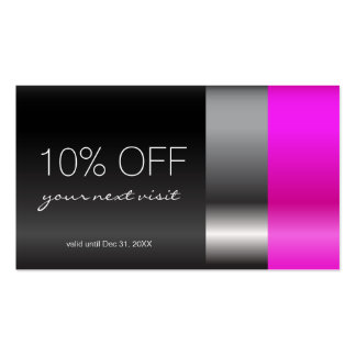 Pink Lipstick Discount Coupon Pack Of Standard Business Cards