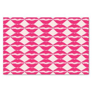 Pink Lipstick Kiss Tissue Paper