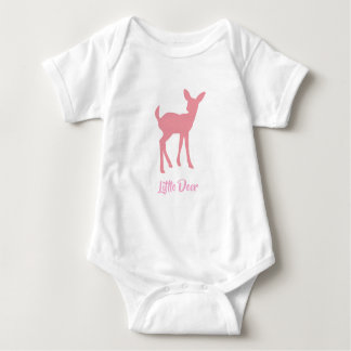 Pink Little Deer Vest Baby Bodysuit