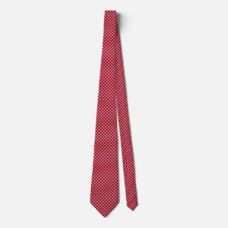 Pink Little Heart Pattern with Red Background Tie