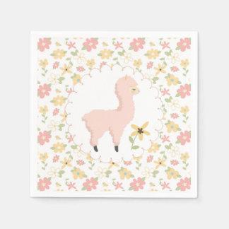 Pink Little Llama Paper Napkin