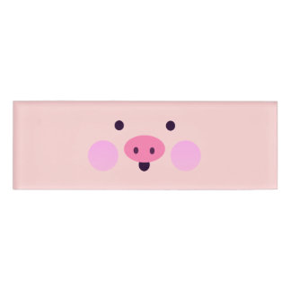 Pink Little Piggy Name Tag