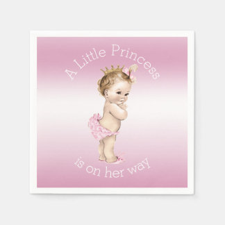 Pink Little Princess Baby Shower Disposable Napkin