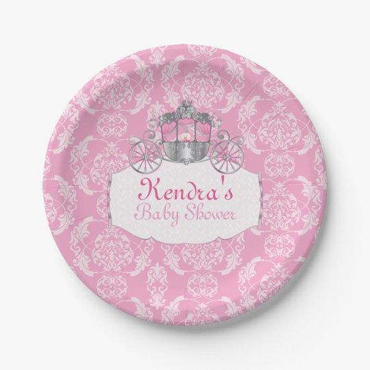 little princess baby shower paper plates 7 inch paper plate zazzle