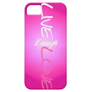 Pink Live Laugh Love iPhone Case
