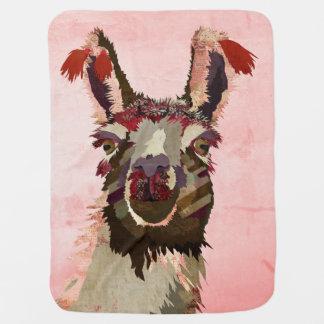Pink Llama Baby Blanket