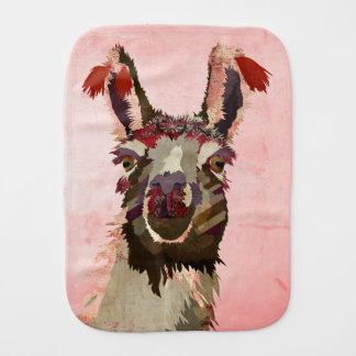 Pink Llama Burp Cloth