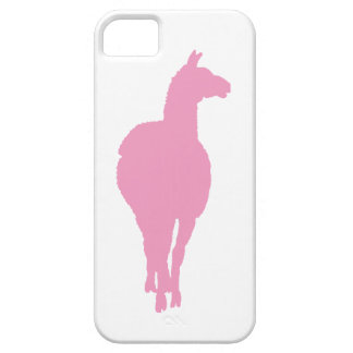 Pink Llama Silhouette (front facing) iPhone 5 Cases