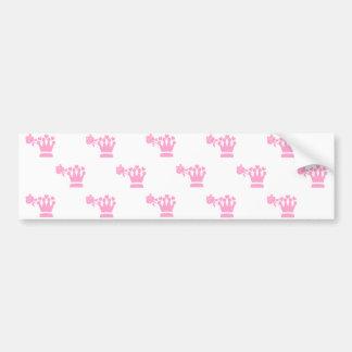 Pink Logo Pattern White BG Bumper Sticker