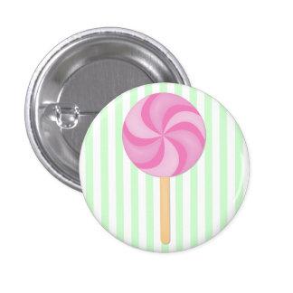 Pink Lollipop Button