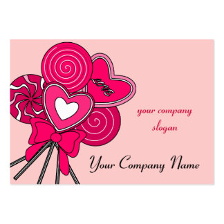 Pink Lollipop Candy Shop Bakery Business Card