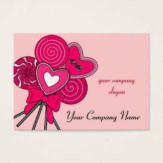 Pink Lollipop Candy Shop Bakery Business Card