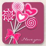 Pink lollipop Cork Coster Beverage Coasters