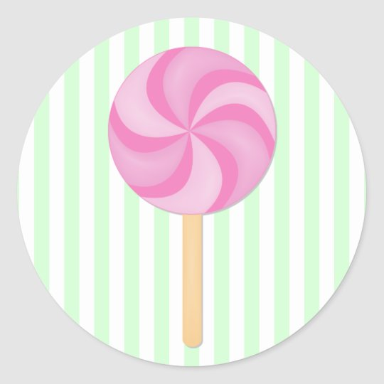 Pink Lollipop Stickers