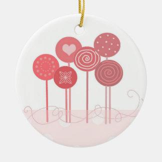 Pink Lollipops Christmas Ornament