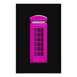 Pink London telephone box Stationery