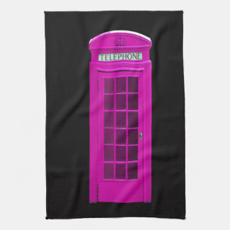 Pink London telephone box Tea Towel