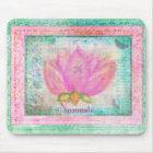 Pink Lotus Blossom Namaste yoga Mouse Mat