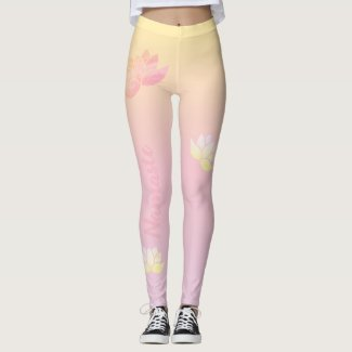 Pink lotus energy leggings