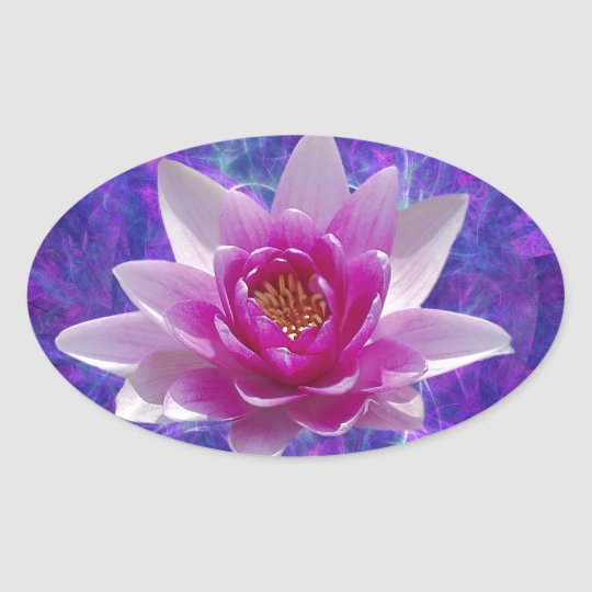 Pink Lotus Flower And Meaning Oval Sticker Zazzlecouk